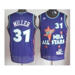 NBA 95 All Star #31 Miller Purple Jerseys