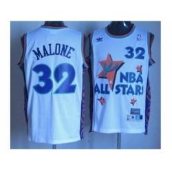 NBA 95 All Star #32 Malone white