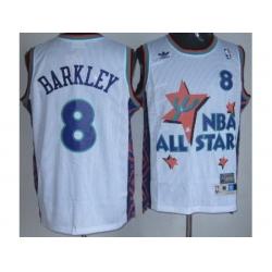 Phoenix Suns 8 Charles Barkley White 95 All Star NBA Jerseys