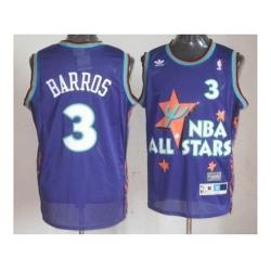 nba 95 all star #3 barros purple