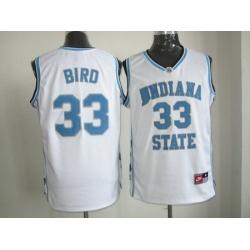 NBA North Carolina #33 bird white Jerseys