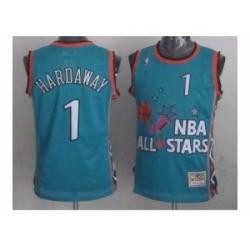NBA 96 All Star #1 Hardaway Blue Jerseys