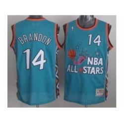NBA 96 All Star #14 Brandon Blue Jerseys