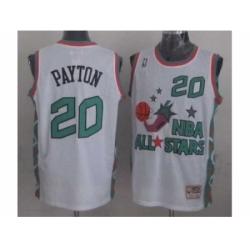 NBA 96 All Star #20 Payton White Jerseys