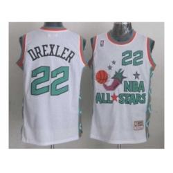 NBA 96 All Star #22 Drexler White Jerseys