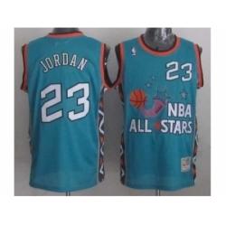 NBA 96 All Star #23 Jordan Blue Jerseys