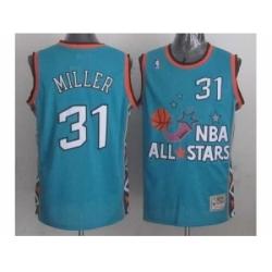NBA 96 All Star #31 Miller Blue Jerseys