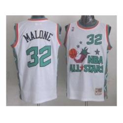 NBA 96 All Star #32 Malone White Jerseys