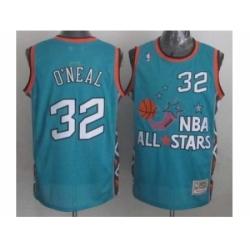NBA 96 All Star #32 Oneal Blue Jerseys