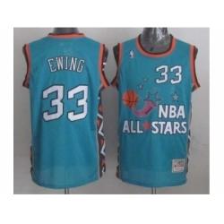 NBA 96 All Star #33 Ewing Blue Jerseys