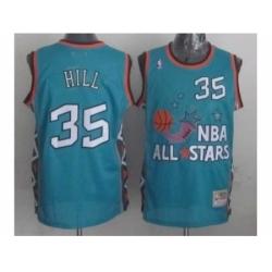 NBA 96 All Star #35 Hill Blue Jerseys