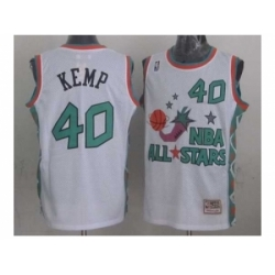 NBA 96 All Star #40 Kemp White Jerseys