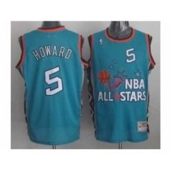 NBA 96 All Star #5 Howard Blue Jerseys