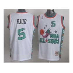 NBA 96 All Star #5 Kidd White Jerseys