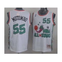 NBA 96 All Star #55 Mutombo White Jerseys