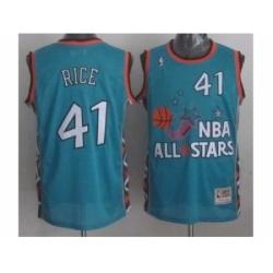 nba 96 all star #41 rice blue