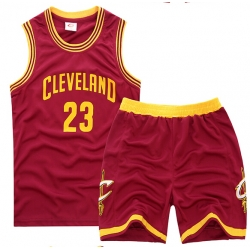 youth Cleveland Cavaliers 23# Lebron James Red Suit Sets