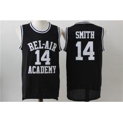 Men Bel Air Academy 14 Will Smith Black Stitched Movie Jersey