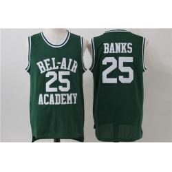 Men Bel Air Academy 25 Carlton Banks Green Stitched Movie Jersey