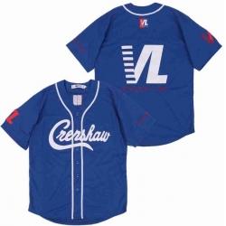 Men Blue Crenshaw Editon Blank Jersey