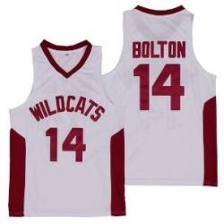 Ncaa Troy Bolton 14 High School Wildcats Basketball Jersey