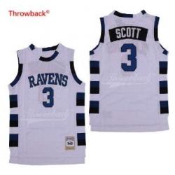 One Tree Hill Scott Ravens Movie jersey 3 White