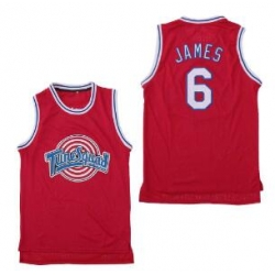 Tune Squad Space Movie jersey Red 6 Lebron James