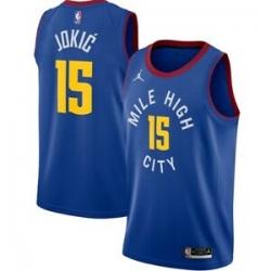 Men's Denver Nuggets Nikola Jokic No.15 Jordan Brand Blue 202021 Swingman Jersey