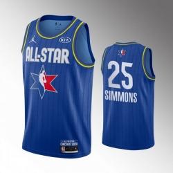 76ers 25 Ben Simmons Blue 2020 NBA All Star Jordan Brand Swingman Jersey