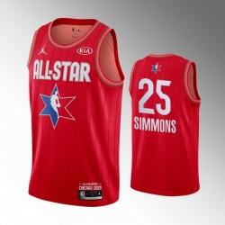 76ers 25 Ben Simmons Red 2020 NBA All Star Jordan Brand Swingman Jersey