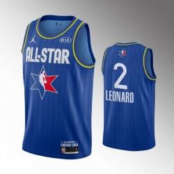 Clippers 2 Kawhi Leonard Blue 2020 NBA All Star Jordan Brand Swingman Jersey