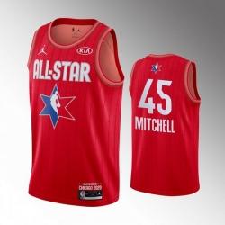 Jazz 45 Donovan Mitchell Red 2020 NBA All Star Jordan Brand Swingman Jersey