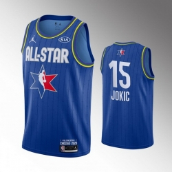Nuggets 15 Nikola Jokic Blue 2020 NBA All Star Jordan Brand Swingman Jersey