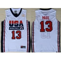 1992 Olympics Team USA 13 Chris Paul White Swingman Jersey