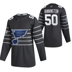 Blues 50 Jordan Binnington Gray 2020 NHL All Star Game Adidas Jersey
