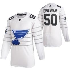 Blues 50 Jordan Binnington White 2020 NHL All Star Game Adidas Jersey