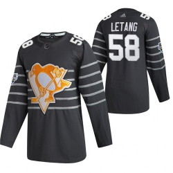 Penguins 58 Kris Letang Gray 2020 NHL All Star Game Adidas Jersey