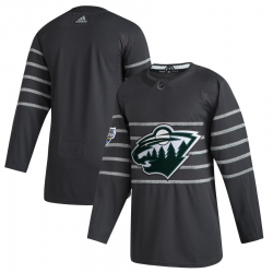 Wild Blank Gray 2020 NHL All Star Game Adidas Jersey