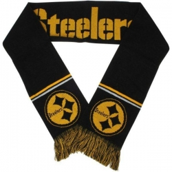 NFL Pittsburgh Steelers Black Yellow Team Colour Scarf