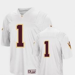 Men Arizona State Sun Devils 1 White College Football Colosseum Jersey