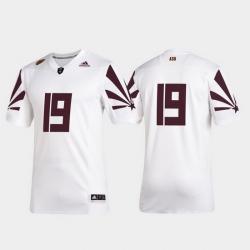 Men Arizona State Sun Devils 19 White 2019 Special Game Premier Football Jersey