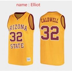 Men Arizona State Sun Devils #32 Elliott Yellow Jersey