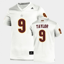 Men Arizona State Sun Devils D.J. Taylor Replica White Football Jersey