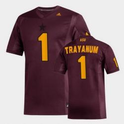 Men Arizona State Sun Devils Deamonte Trayanum Replica Maroon Football Jersey