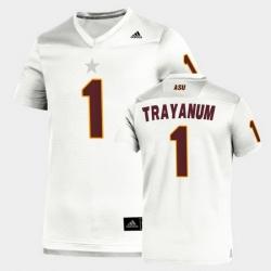 Men Arizona State Sun Devils Deamonte Trayanum Replica White Football Jersey