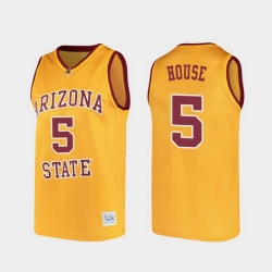 Men Arizona State Sun Devils Eddie House Alumni Gold College Basketball Jersey