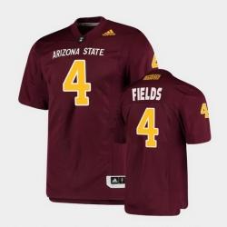 Men Arizona State Sun Devils Evan Fields College Football Maroon Premier Jersey
