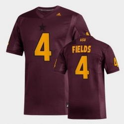 Men Arizona State Sun Devils Evan Fields Replica Maroon Football Jersey