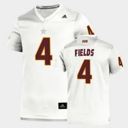 Men Arizona State Sun Devils Evan Fields Replica White Football Jersey