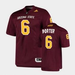 Men Arizona State Sun Devils Geordon Porter College Football Maroon Premier Jersey
